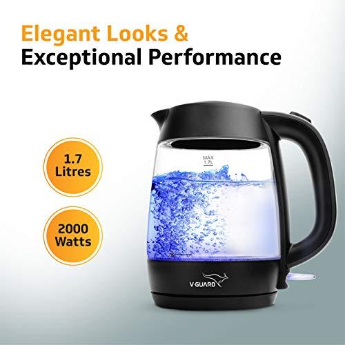 Best V-Guard VKG17 Glass Kettle LED Indicator (Black) capacity great