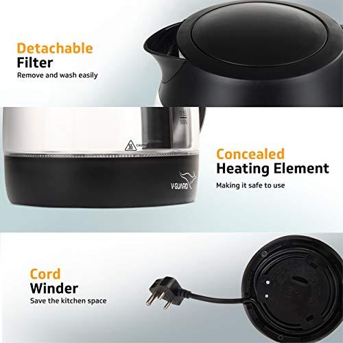 Cord winder Best V-Guard VKG17 Glass Kettle LED Indicator (Black)