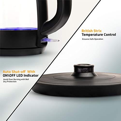 cordless base Best V-Guard VKG17 Glass Kettle LED Indicator (Black)